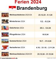 Ferien 2024 Brandenburg