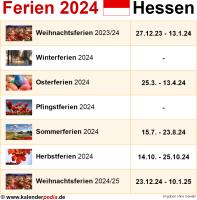 Ferien 2024 Hessen