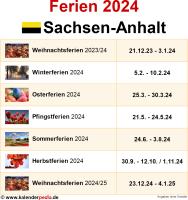 Ferien 2024 Sachsen-Anhalt