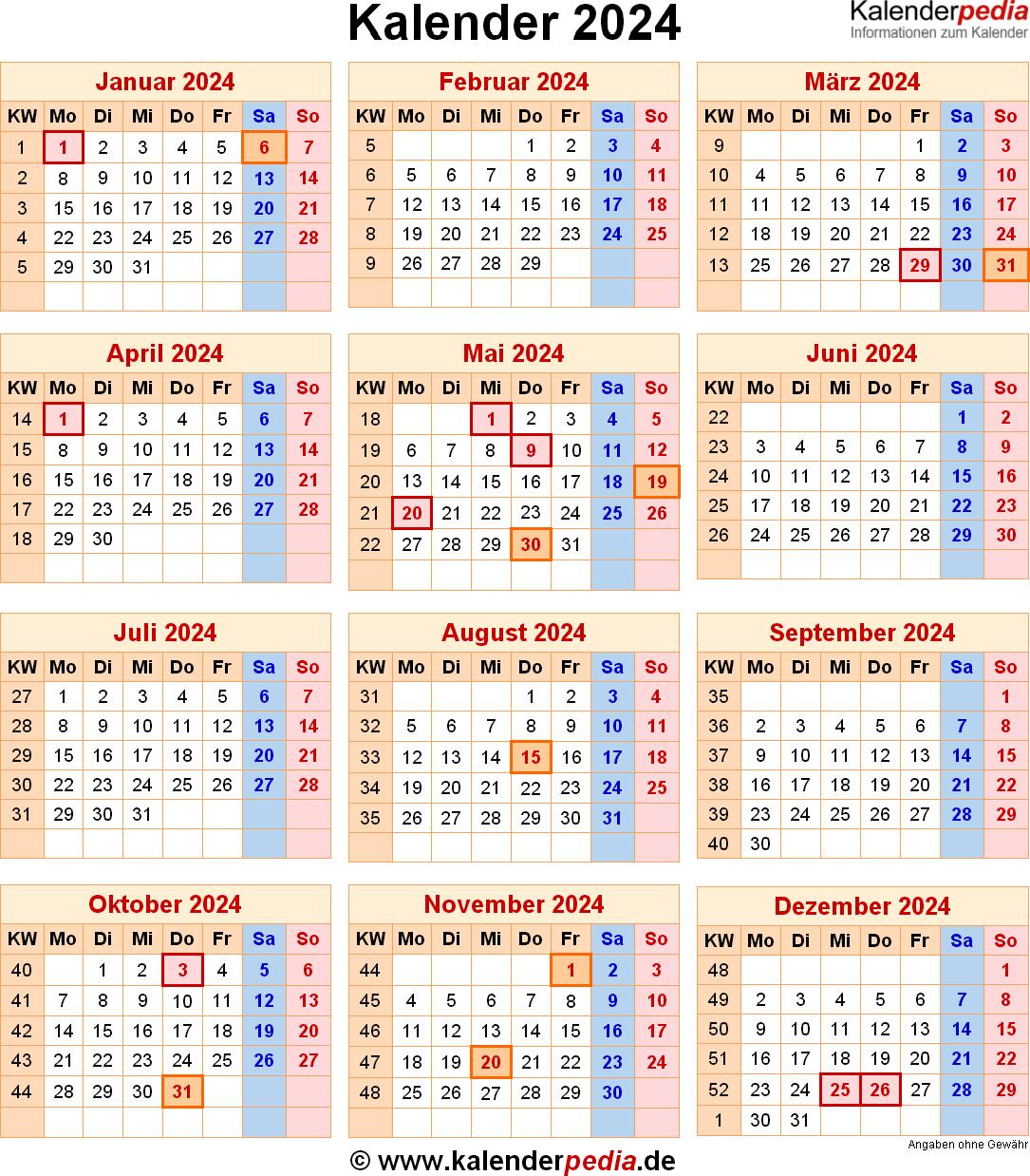 Kalender 2024