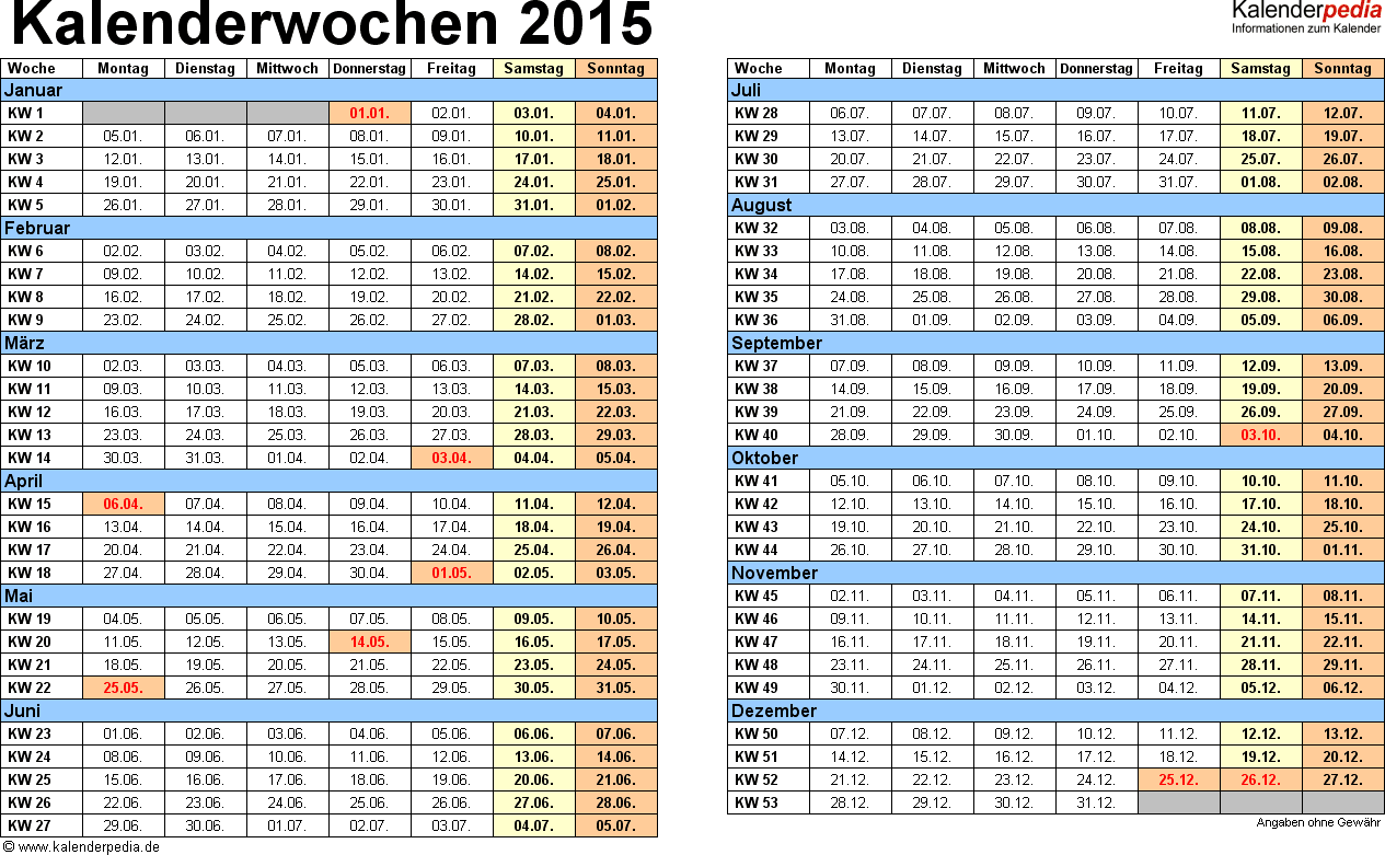 Erfreut Kalender 2015 Vorlage Pdf Zeitgenössisch - Beispiel ...