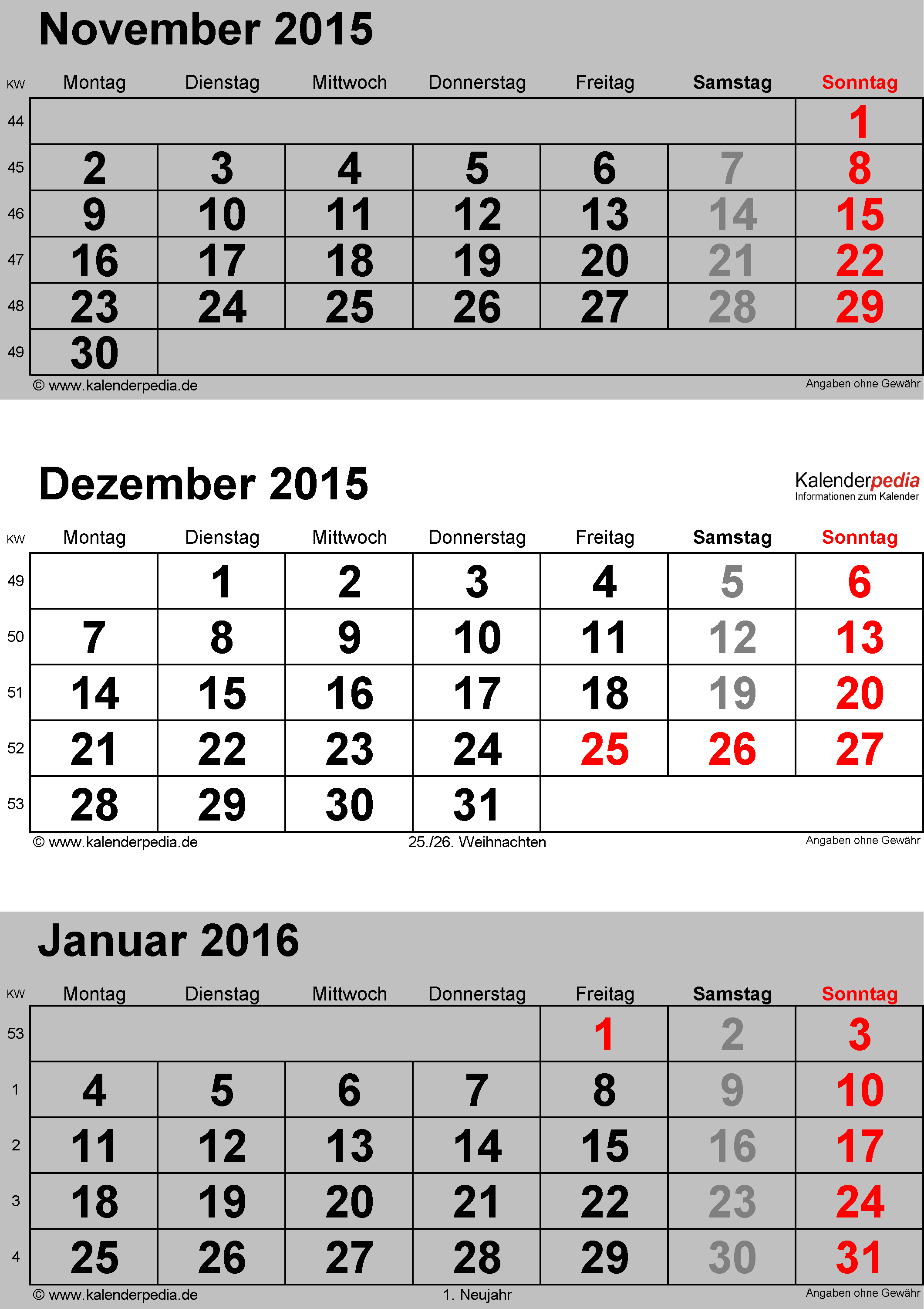 kalender 2015 zum ausdrucken als pdf mit kw kostenlos autos weblog. Black Bedroom Furniture Sets. Home Design Ideas