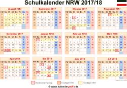 Schulkalender 2017/18 NRW