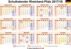 Schulkalender 2017/18 Rheinland-Pfalz