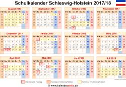 Schulkalender 2017/18 Schleswig-Holstein