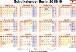 Schulkalender 2018/19 Berlin
