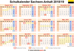 schulkalender 2018 2019 sachsen anhalt f r word. Black Bedroom Furniture Sets. Home Design Ideas