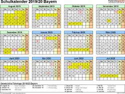 Schulkalender 2019 2020 Bayern Für Excel