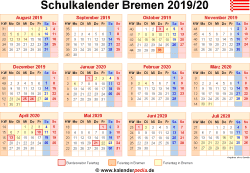 Schulkalender 2019/20 Bremen