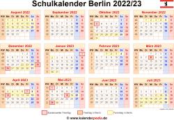Schulkalender 2022/23 Berlin