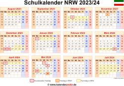Schulkalender 2023/24 NRW