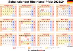 Schulkalender 2023/24 Rheinland-Pfalz