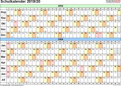 Schulkalender 2019 2020 Als Pdf Vorlagen Zum Ausdrucken